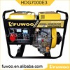 FUWOO air-cooled generator diesel 4.5kva with price