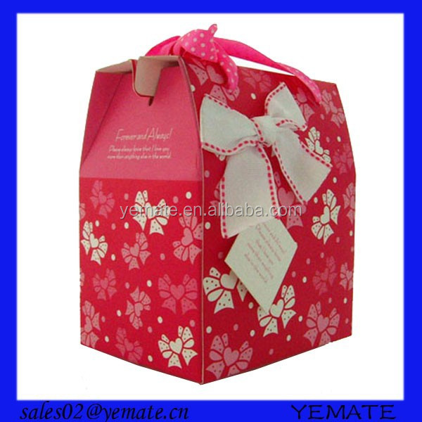2015 NEW house shape cupcake boxes with flower design by paper material