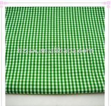 cotton green and white check fabric