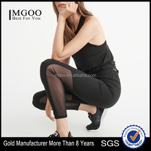 MGOO New Design Women Tight Mesh Back Leggings High Rise Yoga Pants Running Wear Training Pants