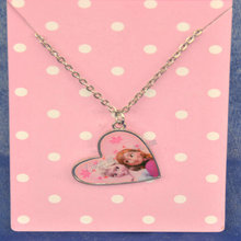 Frozen series fashion jewelry popular and interchangeable sticker pendant necklaces for kids