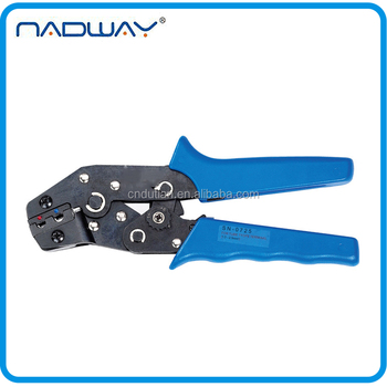 crimping spade ring pre-insulating electrical terminal plier
