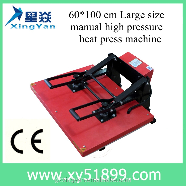 60*100CM European high pressure manual heat press <strong>machine</strong> for t shirt heat transfer <strong>machine</strong> for garment