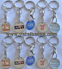 keychain metal with coating and enamel