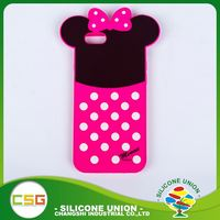 Practical products custom 3D logo solid color silicone custom waterproof cell phone case