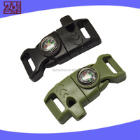 New side release plastic buckles,survival whistle buckle,quick release plastic buckle