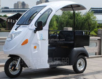 Hot selling Passager &Cargo Use folding open body type adult tricycle/Electric taxi tricycle