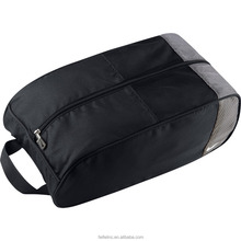 Recyclable zipper Black gym bag shoe compartment and bag