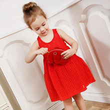 Organic cotton breathable baby girls mini dress hollow out design indian wedding dresses girls