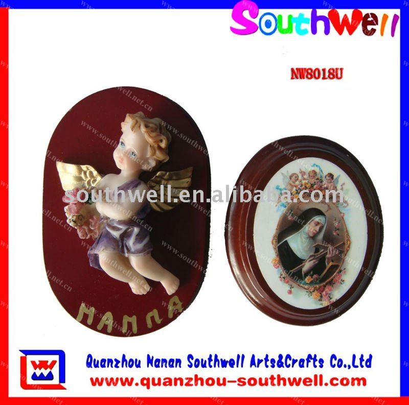 customized angel figurines with wooden base