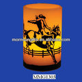Brand New Cowboy Painted Flameless Candle/Floating Candle