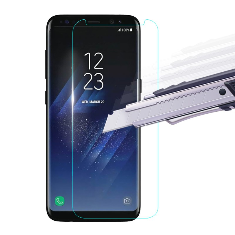 Anti-scratch 0.33mm 2.5D and 9H tempered glasses screen protector for Samsung S8