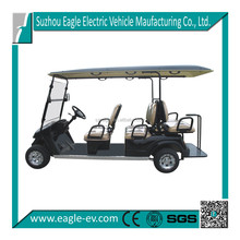 6 seater electric club car 4x4 golf carts electric pick up vehicle cheap electric cart four wheel with long roof EG2048KSF
