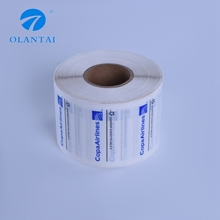 Factory wholesale durable paper roll sticker adhesive label