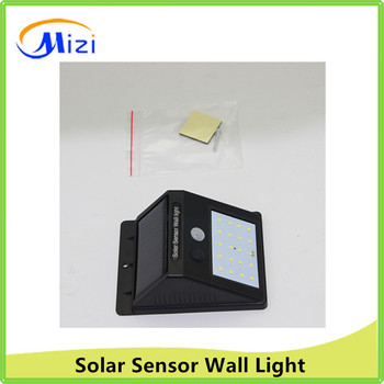 6LED TO 20LEDs solar Sensor Wall Outdoor Light for garden