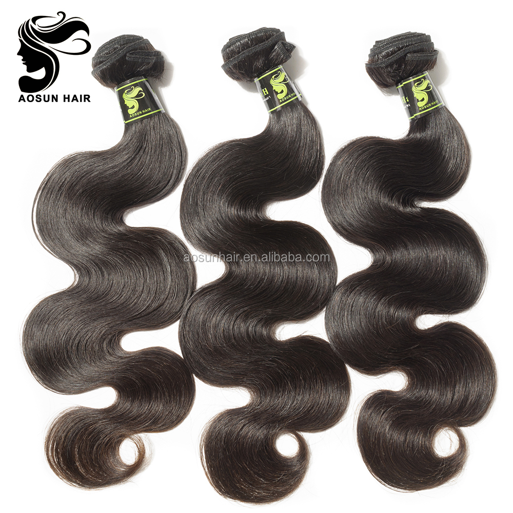 Guangzhou Aosun Wholesale High Quality Brazilian Hair Bundles Deals