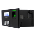 English Spanish French 3 inch TFT colour screen biometric fingerprint time attendance system with high verification speed