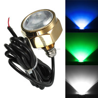 Excellent Quality 27W DC11-28V IP68 Waterproof Rate 9 LED Underwater Marine Boat Drain Plug Light