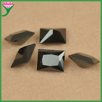 Factory price synthetic black nano rectangle wholesale iranian gemstones, rough gemstone buyers