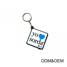 Hot Custom charms Rubber 3d soft pvc keychain for business gift