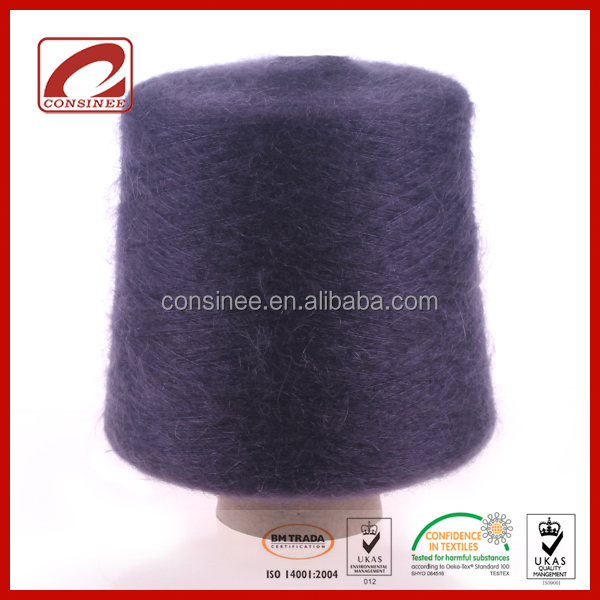 Top Line fancy baby mohair silk yarn with 66%Super Kid Mohair