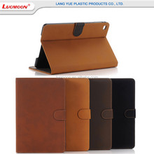 Retro Style Leather Stand Case For Ipad Pro,Universal PU Flip Pure color Case For Tablet