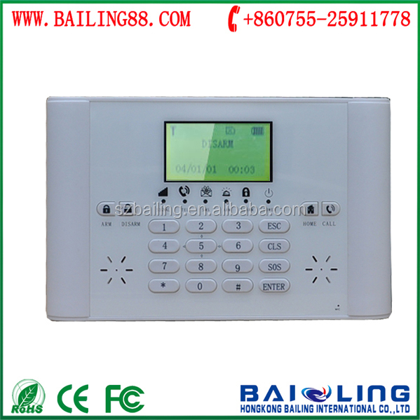 wireless APP/SMS/Phone remote control home security alarm system BL-6000