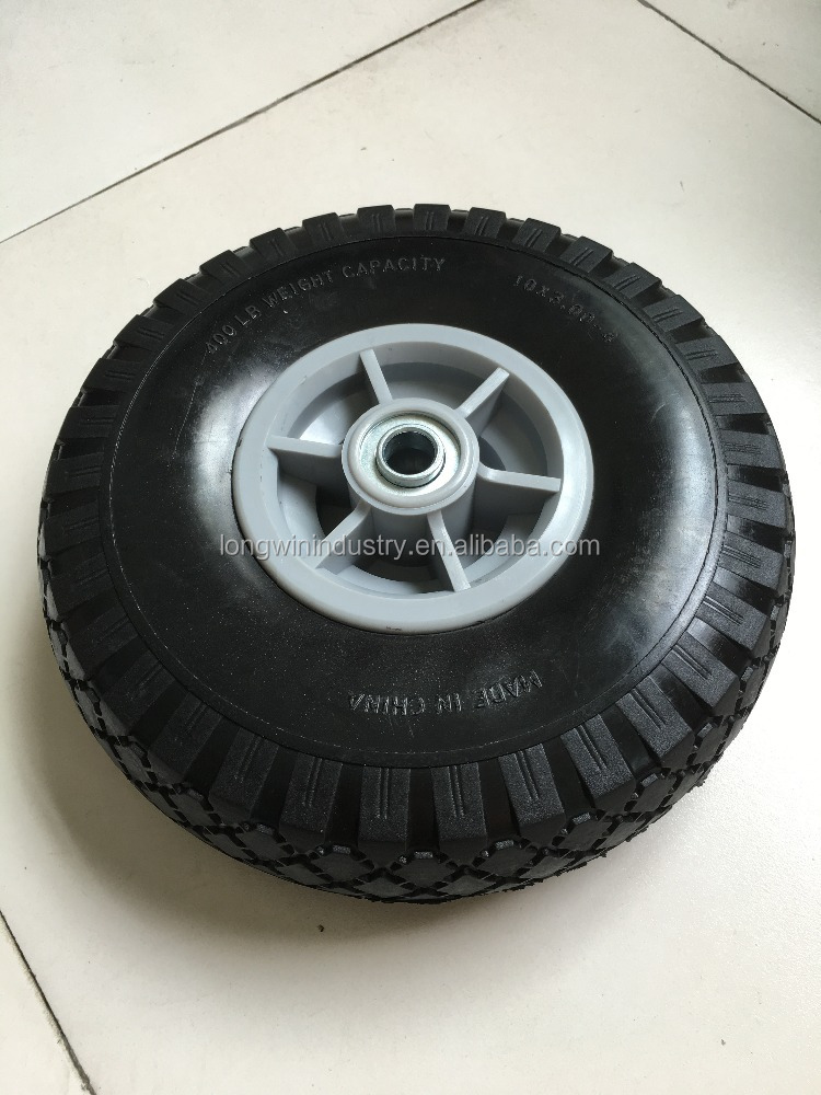 PLASTIC rim 10 inch 4.10/3.50-4 plastic rubber wheel for toy car hand truck