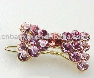 Sweet rhinestone bow decorative hair clips childrens hair accessories