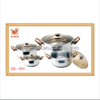 stainless steel product kitchen cookware large cooking pots for sale with high quality