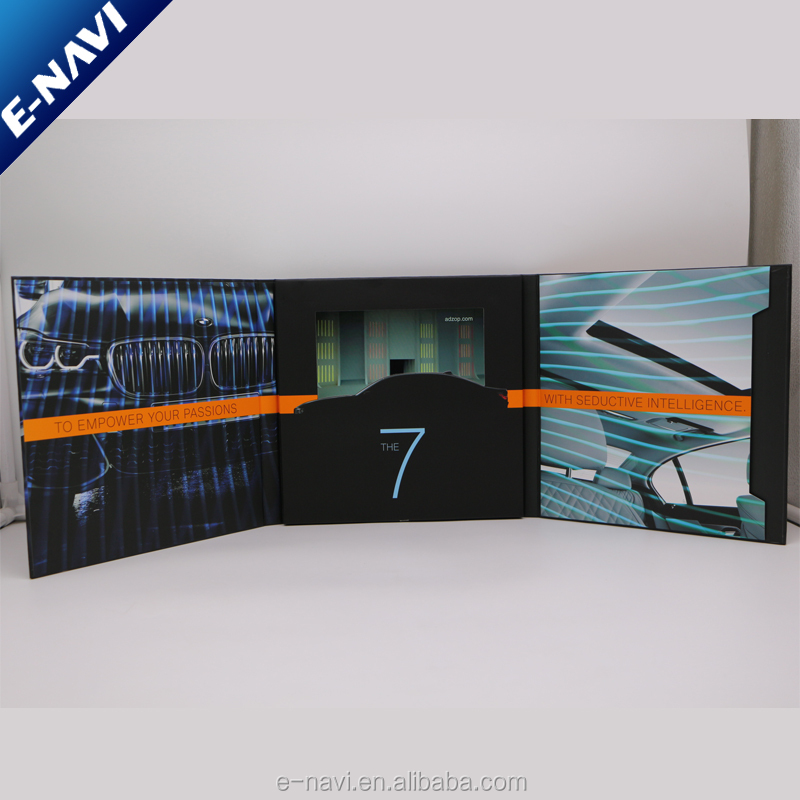 High Quality Digital Video Business Card Lcd Tft Video Player Promotional Video Brochure For Invitation