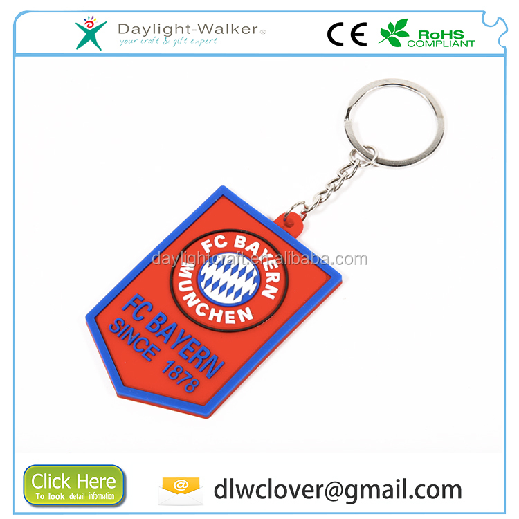 Souvenir world cup funny gift customized OEM/ODM keyring 3D soft pvc keychain