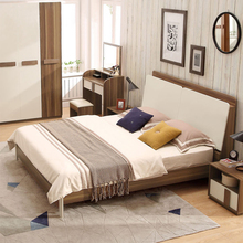 Chinese home bedroom sets pictures of latest double bed design furniture with box