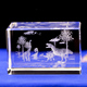 Wholesale Custom 3D Laser Crystal Glass Blank Paperweight