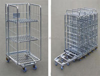 Euro Style Roll Container /Roll Cage/ Rolling Pallet Trolley,Euro Style Laundry Trolley