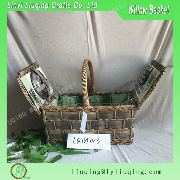 Eco friendly rattan picnic storage basket Cheap promotional in bulk rattan and bamboo basket for food for kitchen