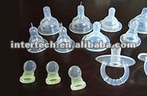 Certificated silicone baby nipple mold making company