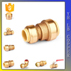 "LinBo LBA125 3/8"" Brass Lead Free Pneumatic Plastic Push Fit Fittings"