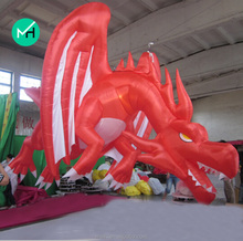 Hot sale new design red and white giant advertising inflatable dragon for sale