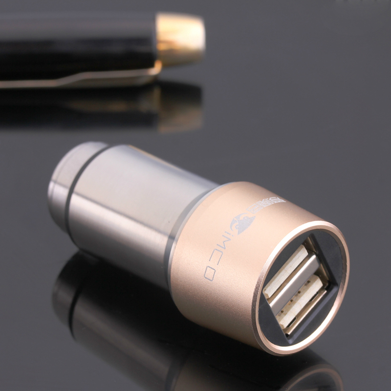 High Quality Micro Auto Universal Dual USB Car Charger For iPad iPhone 5V 2.1A Mini Adapter Short Circuit Protection One Piece