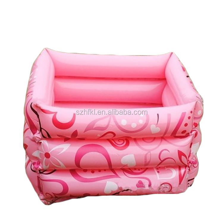 pink floral pattern foot care inflatable foot bath