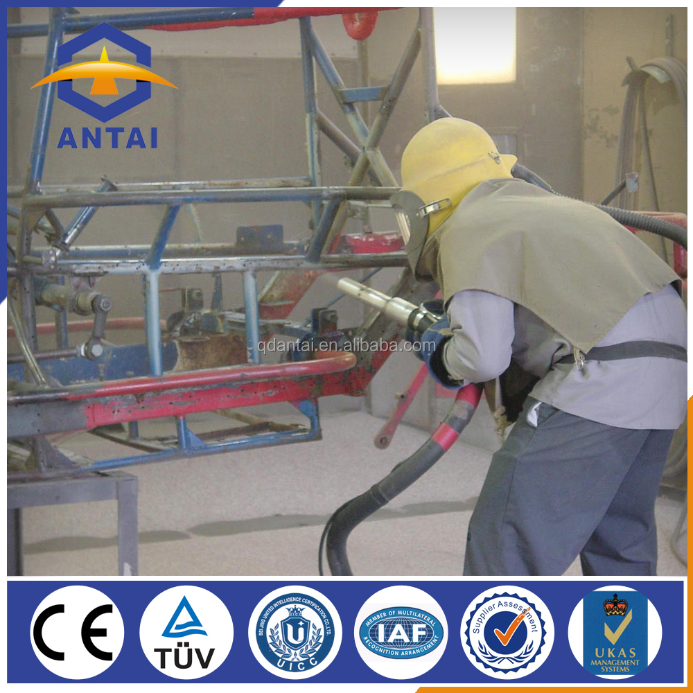 air blast room / sandblasting line / sand blasting machines
