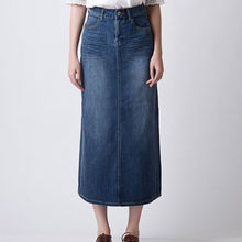 wholesale factory new jean skirt women high waist design long denim skirts