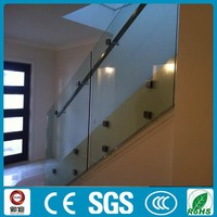 Square Glass holder For Stair and Balcony Railing