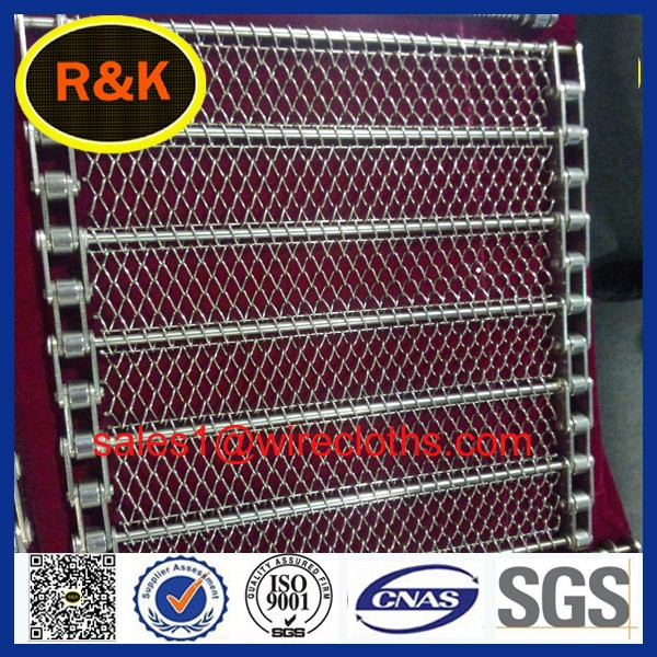 304/316/316L stainless steel mesh conveyor belt with chain