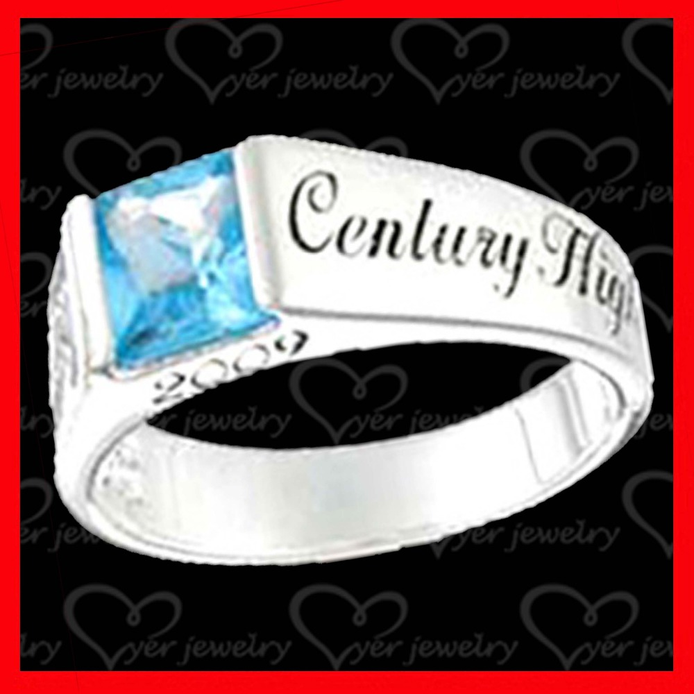 Custom silver class ring graduate gifts wholesale jewelry cheap price