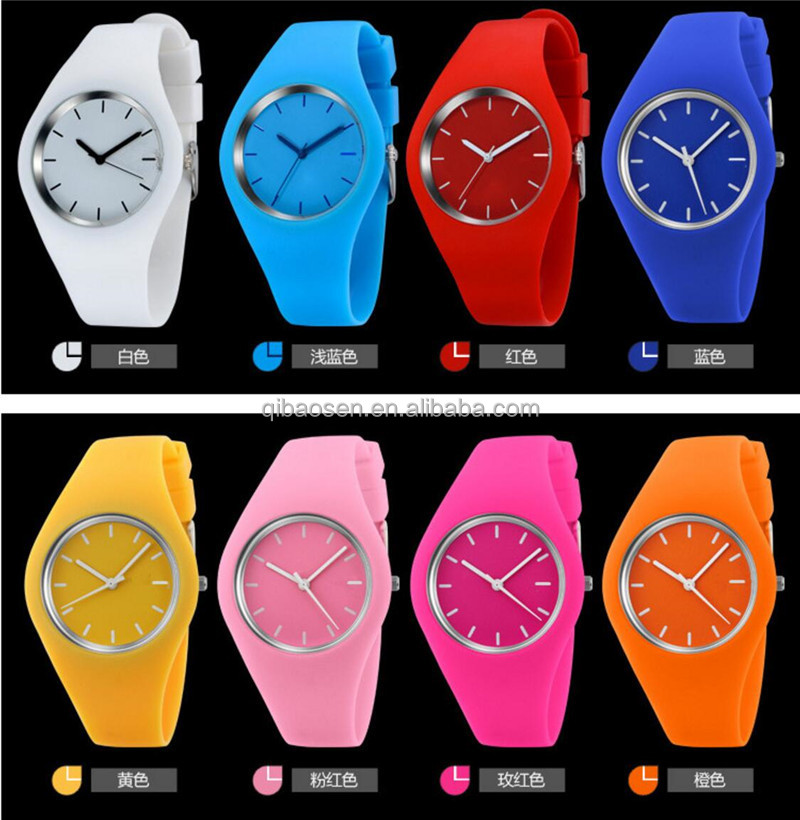 HOT ! fashion silicon wrist slap watch for promotional gift