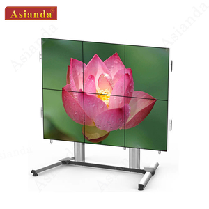 Asianda high quality 55 inch 3x3 seamless LED backlight LCD display wall screen
