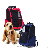 wholesale trolley pet carrier on wheels dog carriers with wheels