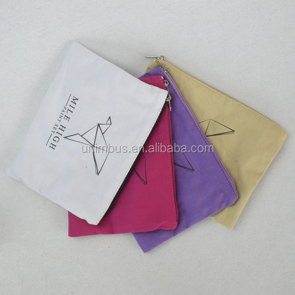 small cosmetic plastic ziplock canvas zipper pouch bag with custom logo